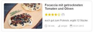 Focaccia mit getrockneten Tomaten und Oliven © AnneBy | Chefkoch.de