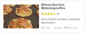 Möhren-Zucchini-Blätterteigmuffins © Gingerin | Chefkoch.de