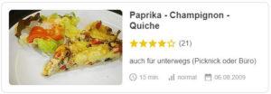 Paprika - Champignon - Quiche © gs_pe | Chefkoch.de