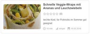 Schnelle Veggie-Wraps mit Ananas und Lauchzwiebeln © Mrs_Gaumenschmaus | Chefkoch.de